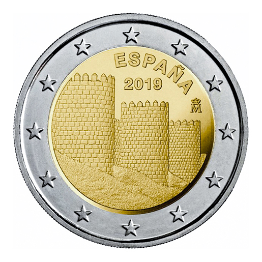 2 EURO PROOF WORLD HERITAGE 2019 AVILA