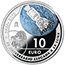 50TH ANNIV. 1ST LANDING ON THE MOON (2019) SILVER COIN