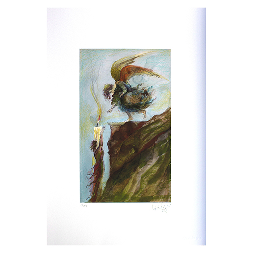 "PRINT ""ANGEL, FIGURE AND CANDLE"""