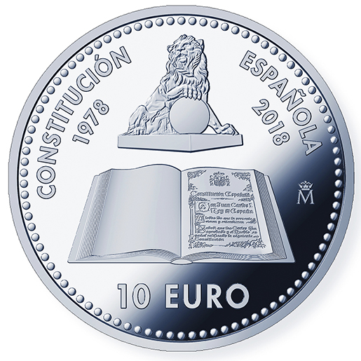 10 EURO 40TH ANNIVERSARY CONSTITUTION