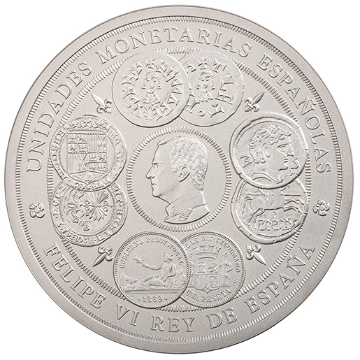 1 KILO SILVER COIN 2019 - SPANISH MONETARY UNITS