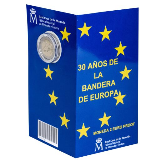 2 EURO PROOF 30 YEARS EUROPEAN UNION FLAG