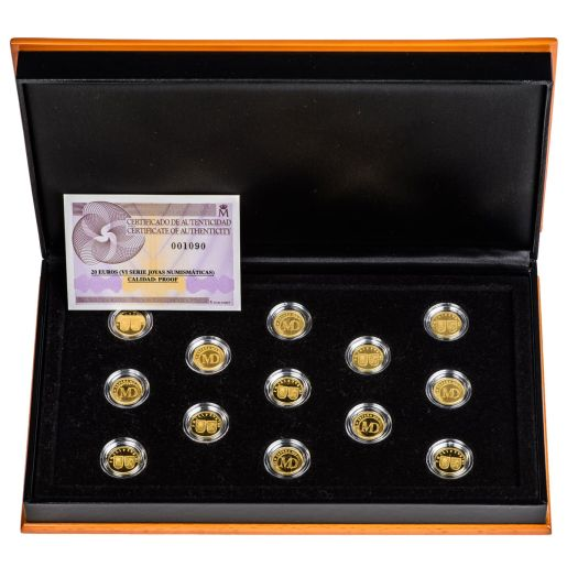 "WEDDING GOLD COINS ""MINT OF MADRID"""