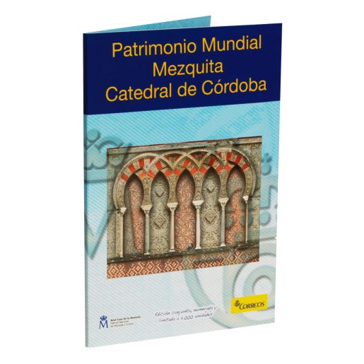 CARTERITA SELLO+MONEDA 2 EURO MEZQUITA-CATEDRAL DE CORDOBA