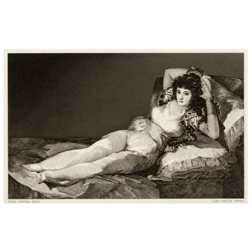 BURIN 'THE DRESSED MAJA VESTIDA GOYA'