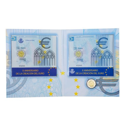 10th Anniversary of the Economic and Monetary Union (EMU)- Coin and Stamp
