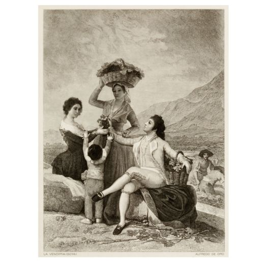 BURIL 'LA VENDIMIA' GOYA
