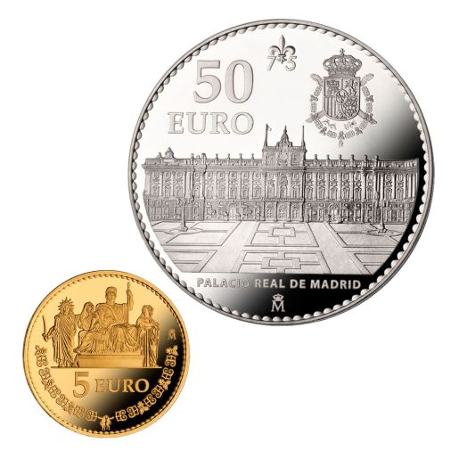 75th ANNIVERSARY OF H. M. THE KING (2013) SET CINCUENTIN + 5 EURO