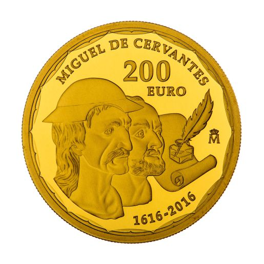 200 EURO GOLD COIN 400 YEARS of the DEATH of CERVANTES