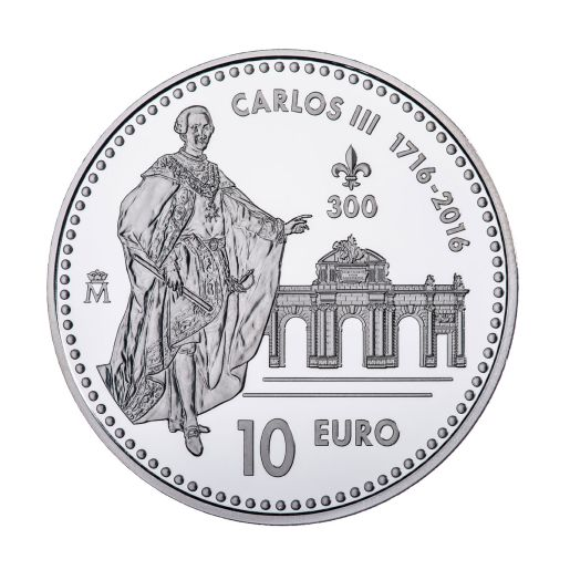 THIRD CENTENARY OF CARLOS III  (2016) SILVER COIN