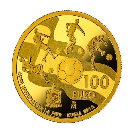 FIFA WORLD CUP RUSSIA 2018 (ISSUE 2017) GOLD COIN