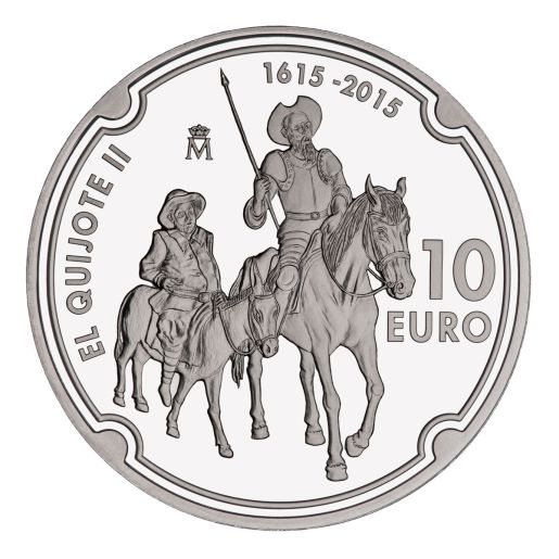 400 YEARS OF THE PUBLICATION OF THE EL QUIXOTE II (2015) SILVER COIN
