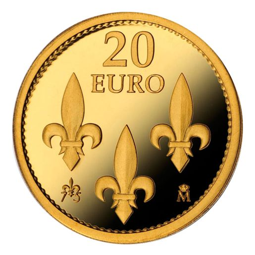 75th ANNIVERSARY OF HIS MAJESTY THE KING (2013) 20 EURO GOLD COIN
