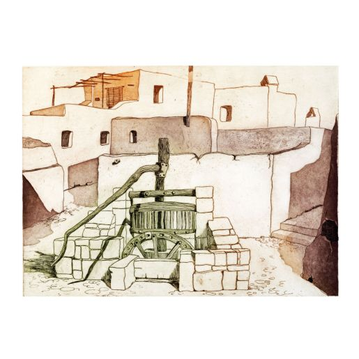 ETCHING 'VILLAGES OF IBIZA'