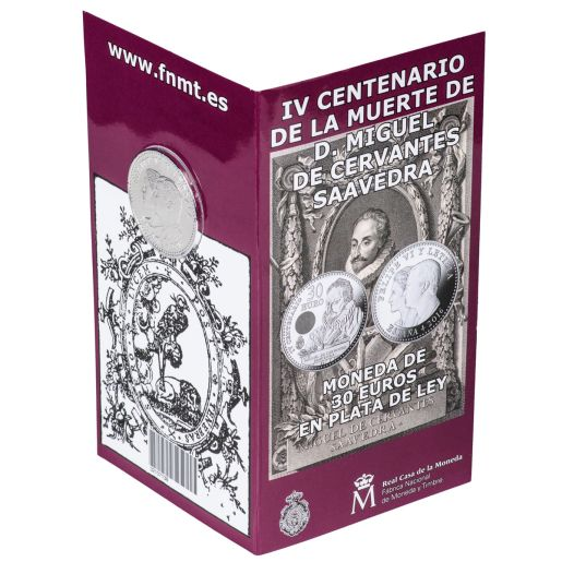 30 EURO 2016  SILVER COIN 4TH CENTENARY OF CERVANTES