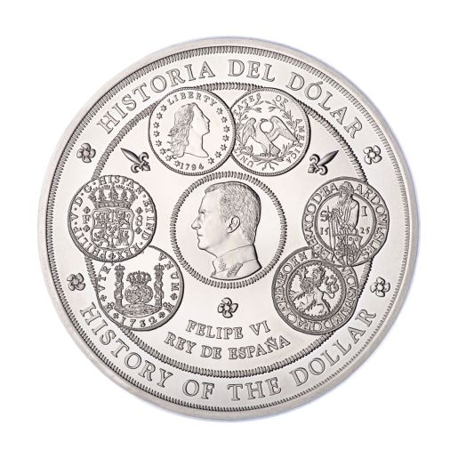 1 KILO SILVER COIN 2017 - HISTORY OF THE DOLLAR