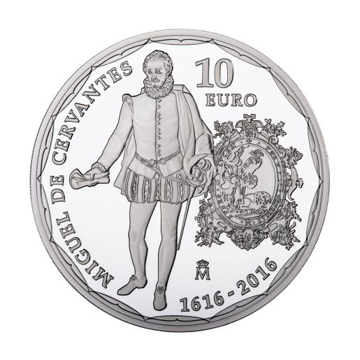 10 EURO SILVER COIN - 400 YEARS of the DEATH of CERVANTES