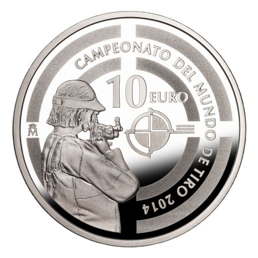 SHOOTING WORLD CHAMPIONSHIP (2014) SILVER COIN