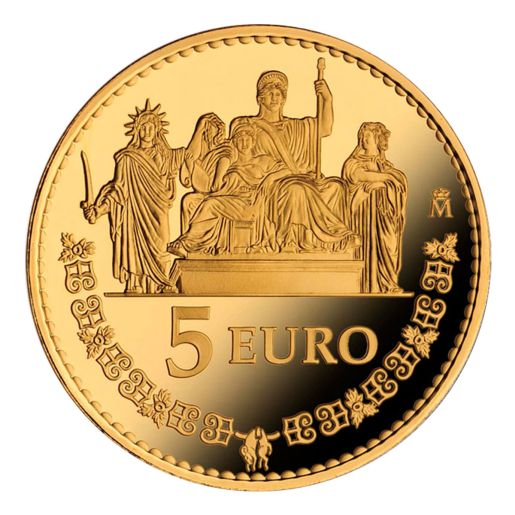 75th ANNIVERSARY OF HIS MAJESTY THE KING (2013) 5 EURO SILVER COIN