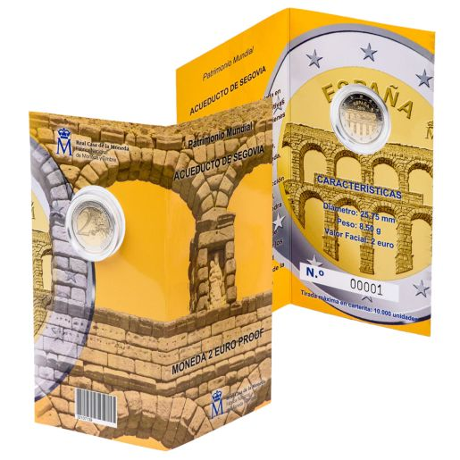 2 EURO PROOF WORLD HERITAGE 2016 SEGOVIA