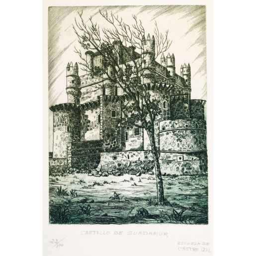 ETCHING 'CASTLE OF GUADAMUR'