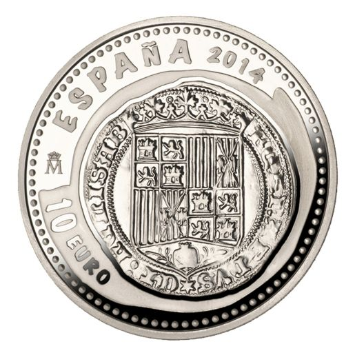 NUMISMATIC TREASURES V (2014) CATHOLIC KINGS  SILVER COIN