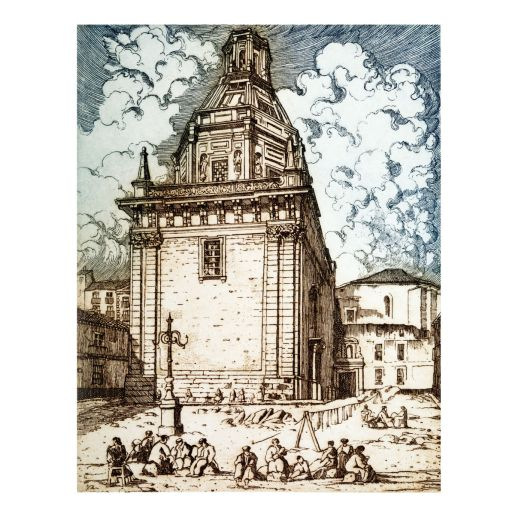 ETCHING 'CHURCH OF ST. ANDREW'